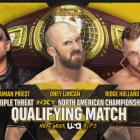 Damien Priest vs Oney Lorcan vs Ridge Holland annoncé pour NXT la semaine prochaine