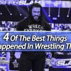 4 des meilleures choses qui se sont produites en lutte cette année