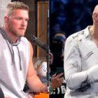 Pat McAfee prend une photo contre Tyson Fury et jure de ne pas avoir l'air terrible dans le match WWE NXT