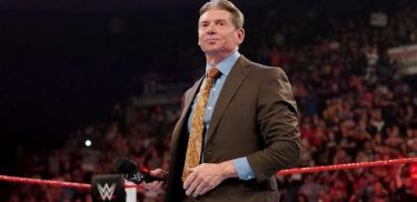 Vince McMahon cuts a promo on WWE television