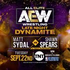9/22 Résultats AEW Late Night Dynamite: Matt Sydal contre Shawn Spears, Ben Carter recommence, Brandi Rhodes contre Anna Jay