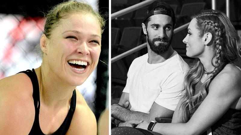 Ronda Rousey, Seth Rollins, and Becky Lynch