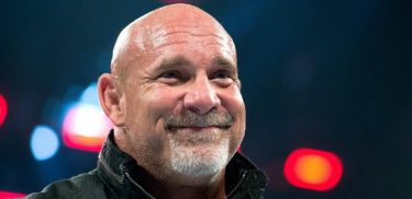 Goldberg smiles on WWE television