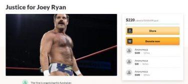 La campagne de financement participatif `` Justice For Joey '' a commencé à payer les factures juridiques de Joey Ryan