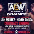 Jon Moxley vs Kenny Omega Signature du contrat annoncée pour AEW Dynamite de cette semaine