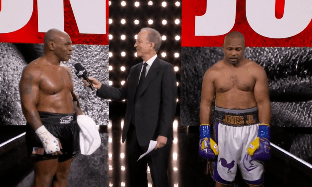 Mike Tyson et Roy Jones Jr se disputent un match nul, Tyson prévoit de se battre à nouveau