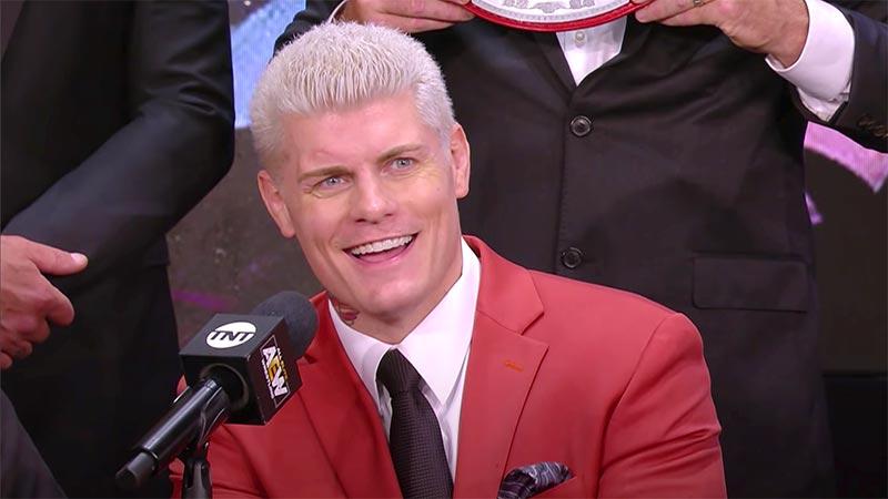 Mise à jour sur Cody à l'aide de «Cody Rhodes» dans AEW
