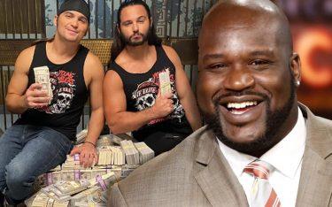 Shaquille O'Neal a donné à Young Bucks une réaction enthousiaste dans les coulisses de AEW Full Gear