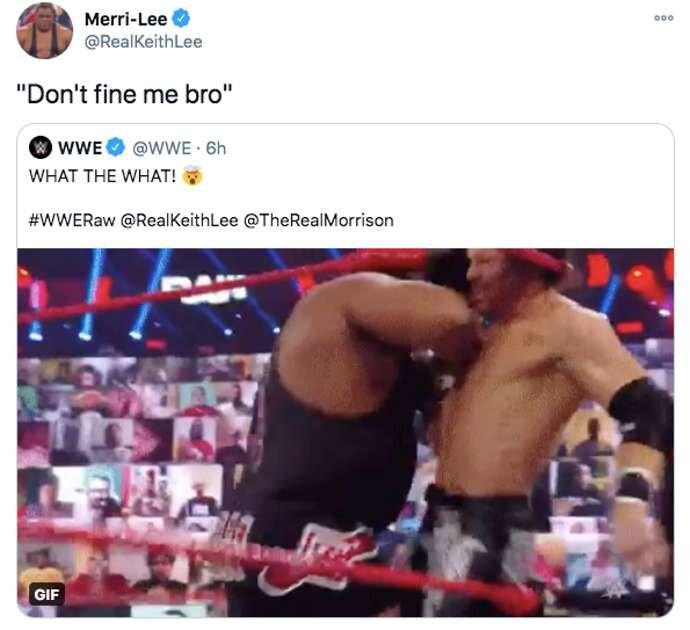 La réaction de Lee au moment était hilarante