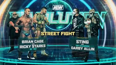 Sting & Darby Allin contre Team Taz Street Fight signés pour AEW Revolution