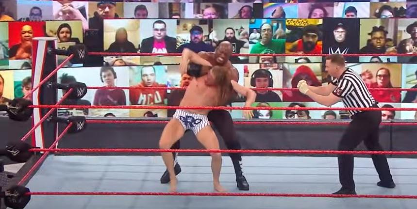 Résultats Raw WWE (1/11) - Championnat des États-Unis - Bobby Lashley (c) w / MVP a vaincu Riddle par soumission;  Riddle a battu MVP avec Bobby Lashley par disqualification