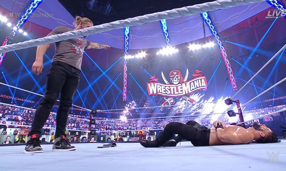 Edge envoie un message à Roman Reigns avant le match pour le titre de WrestleMania