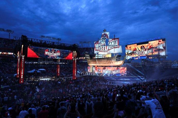 Les fans étaient un spectacle bienvenu à WrestleMania 37