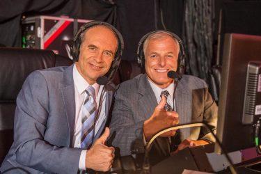 Lancement des annonceurs français de la WWE Jean Brassard et Raymond Rougeau