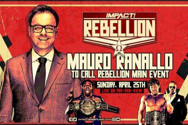 Notes en coulisses sur Mauro Ranallo travaillant au PPV Impact Rebellion