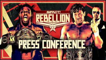 Swann et Omega viennent aux coups lors de la conférence de presse sur la rébellion - IMPACT Wrestling