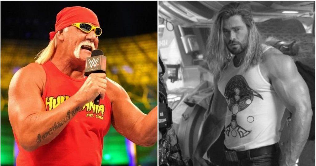 Hulk Hogan réagit aux bras massifs de Chris Hemsworth avant le prochain biopic de la WWE