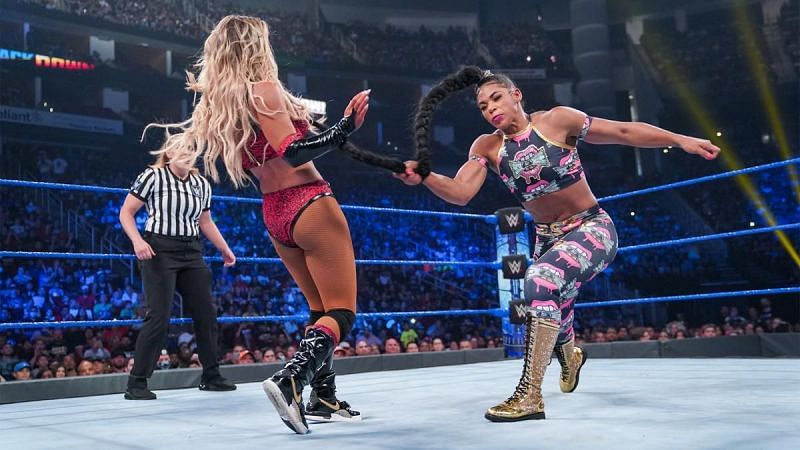 Carmella and Bianca Belair on SmackDown