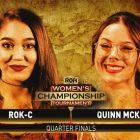 Deux femmes se qualifient pour les demi-finales du tournoi pour le titre féminin de la ROH;  Résultats de la gloire à l'honneur