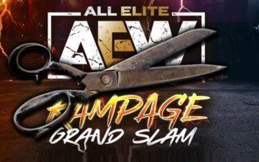 Défi posé pour le match cheveux contre cheveux lors du Grand Chelem AEW Rampage
