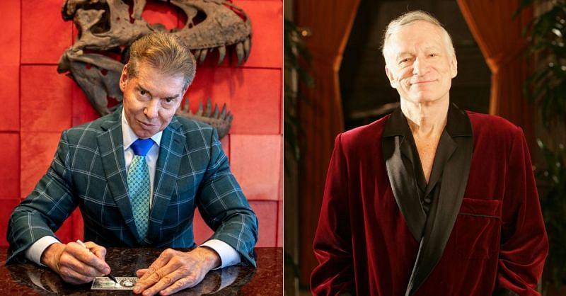 Vince McMahon; Playboy founder Hugh Hefner
