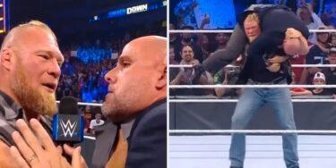 Brock Lesnar F5'd Adam Pearce si dur que l'officiel de la WWE a divisé son pantalon