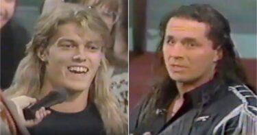 WWE: Images d'Edge demandant à Bret Hart comment se faire signer en 1992 alors qu'il avait 19 ans