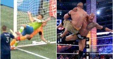 The Rock réagit alors que le défi bizarre de la star de la MLS semble sortir tout droit de la WWE
